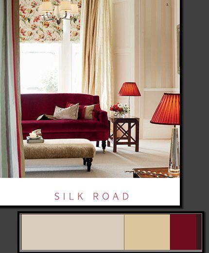цвет текстиля или обоев