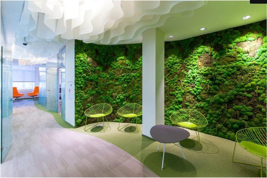 Декоративный мох в интерьере